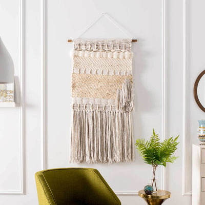 Seattle Woven Wall Art Ivory/Creme