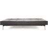 Stockholm Sofa Steel Black Leather