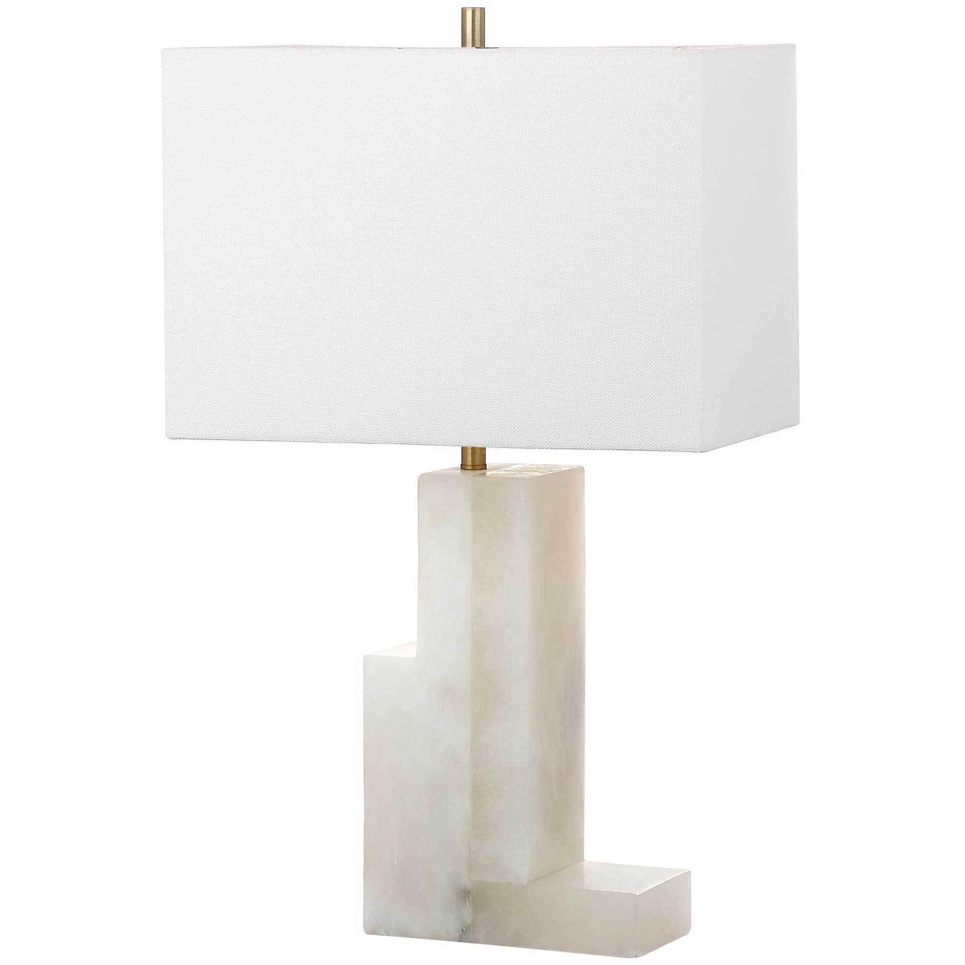 Colby Alabaster Table Lamp White