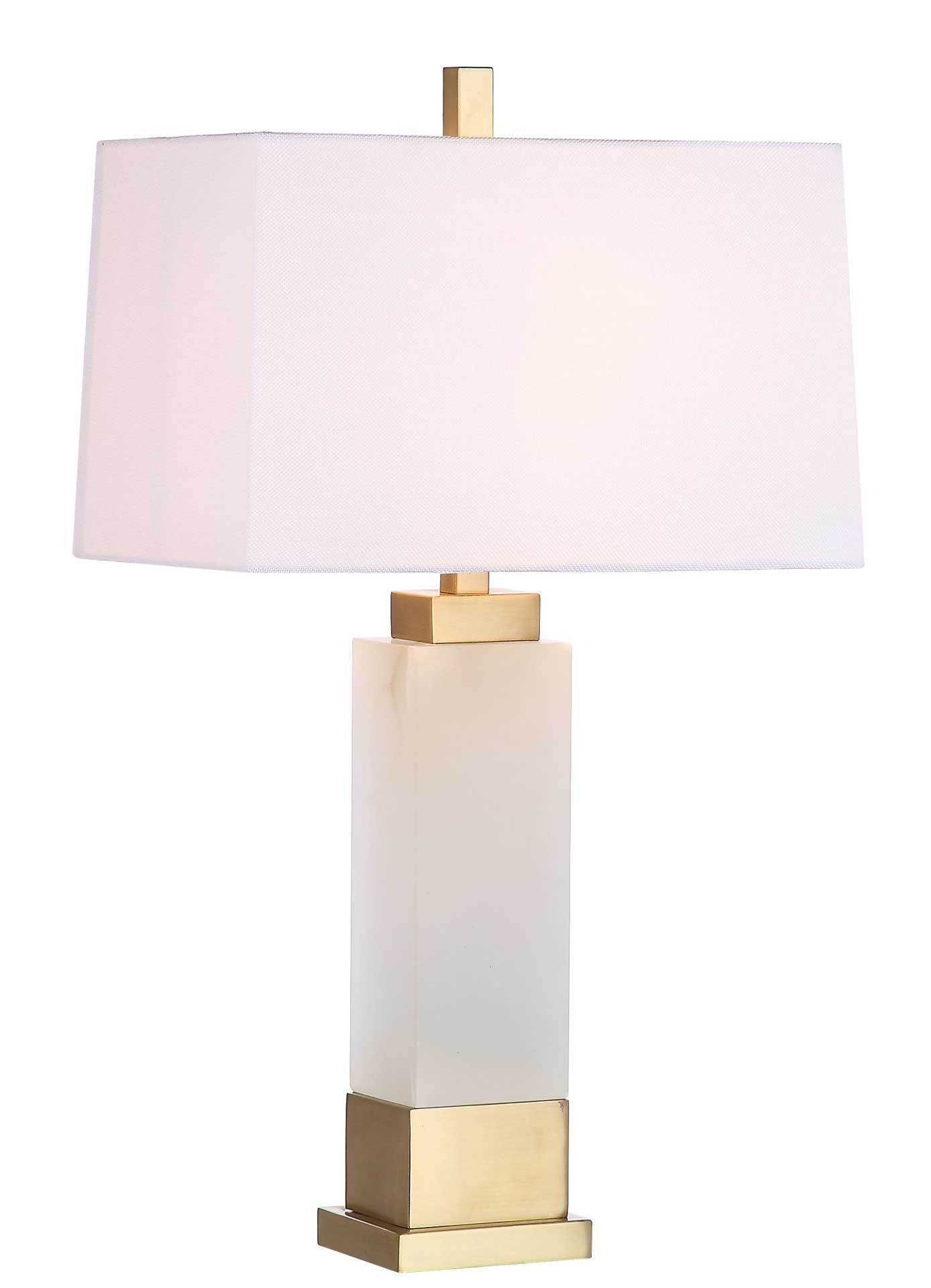 Roderick Alabaster Table Lamp White/Gold