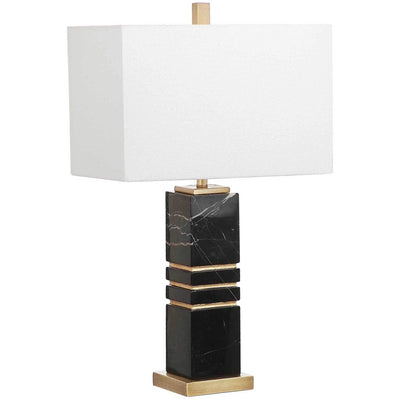 Jacob Marble Table Lamp Black/Gold