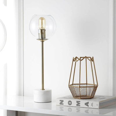 Cadence Table Lamp Brass Gold/White