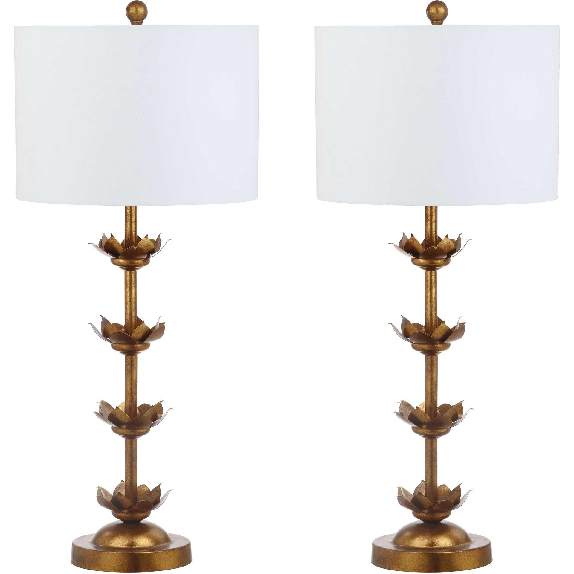 Lapalapa Leaf Table Lamps Antique Gold (Set of 2)