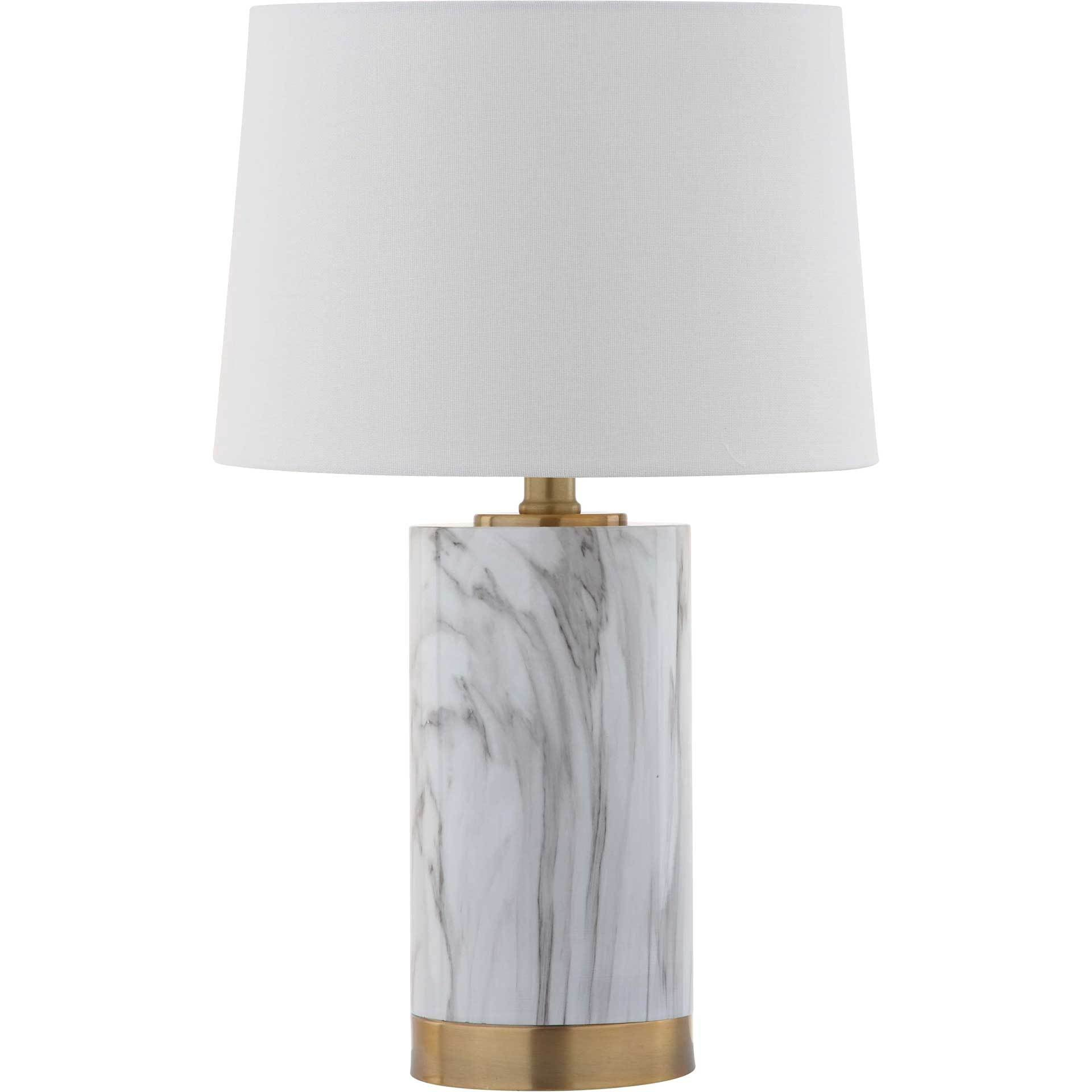 Clara Table Lamp White/Black Marble