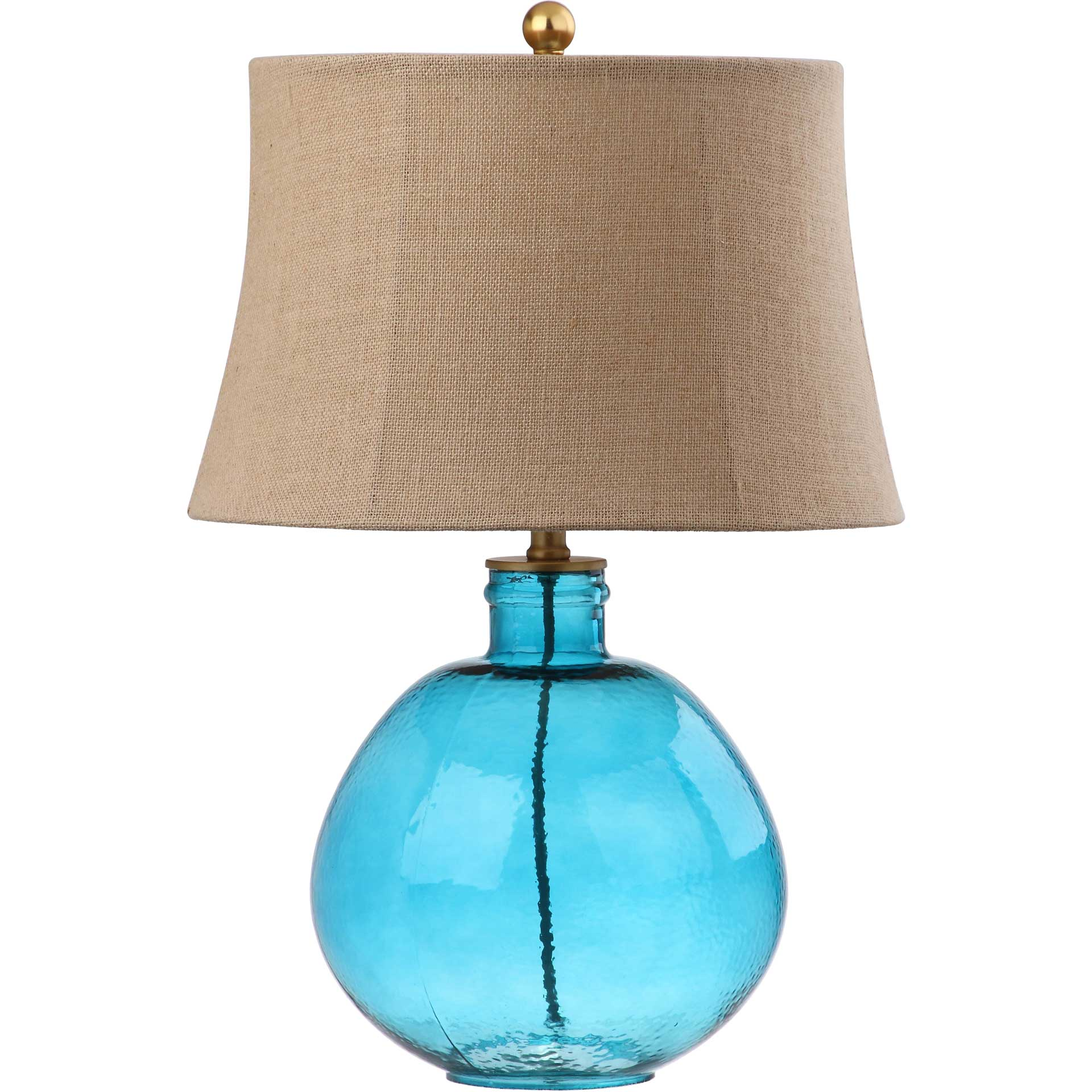 Raven Glass Table Lamp Blue