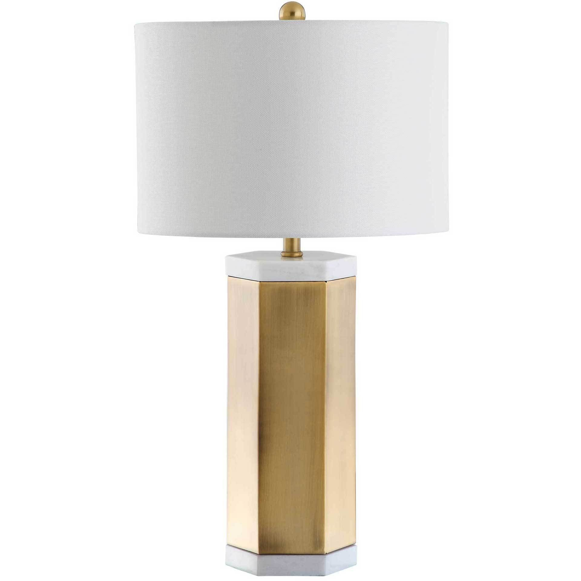 Alyra Table Lamp White/Brass Gold (Set of 2)