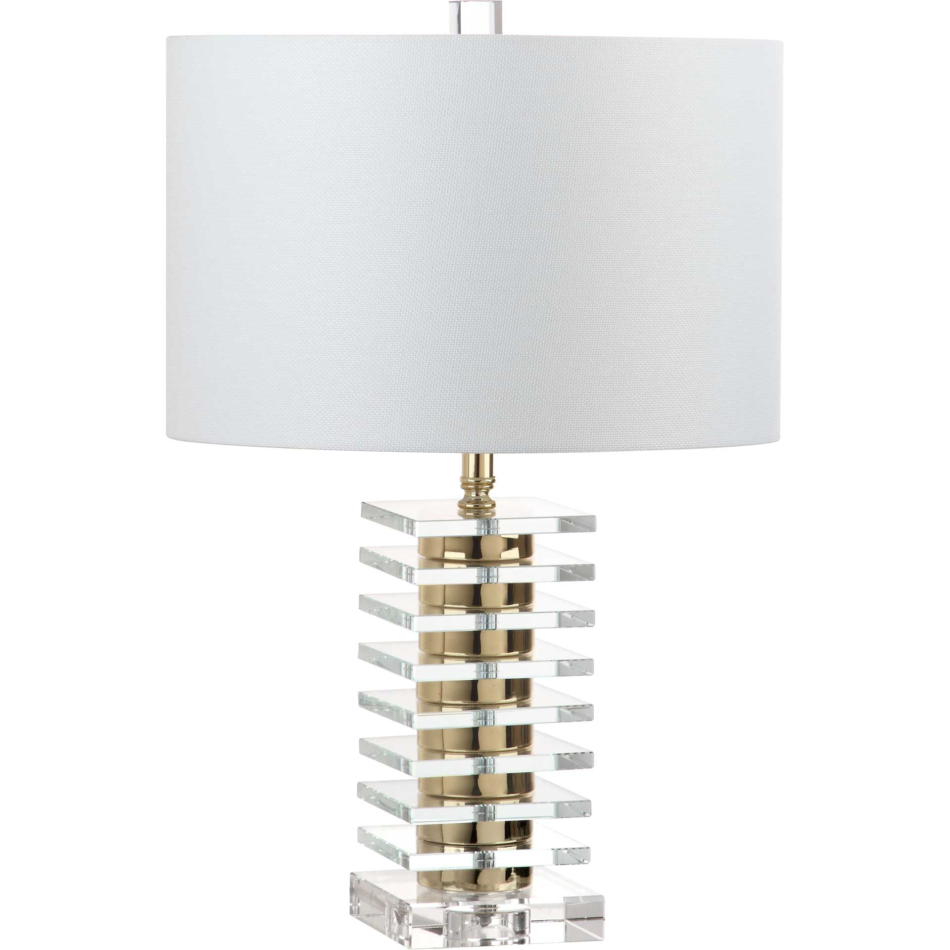 Claire Table Lamp Clear/Brass Gold (Set of 2)