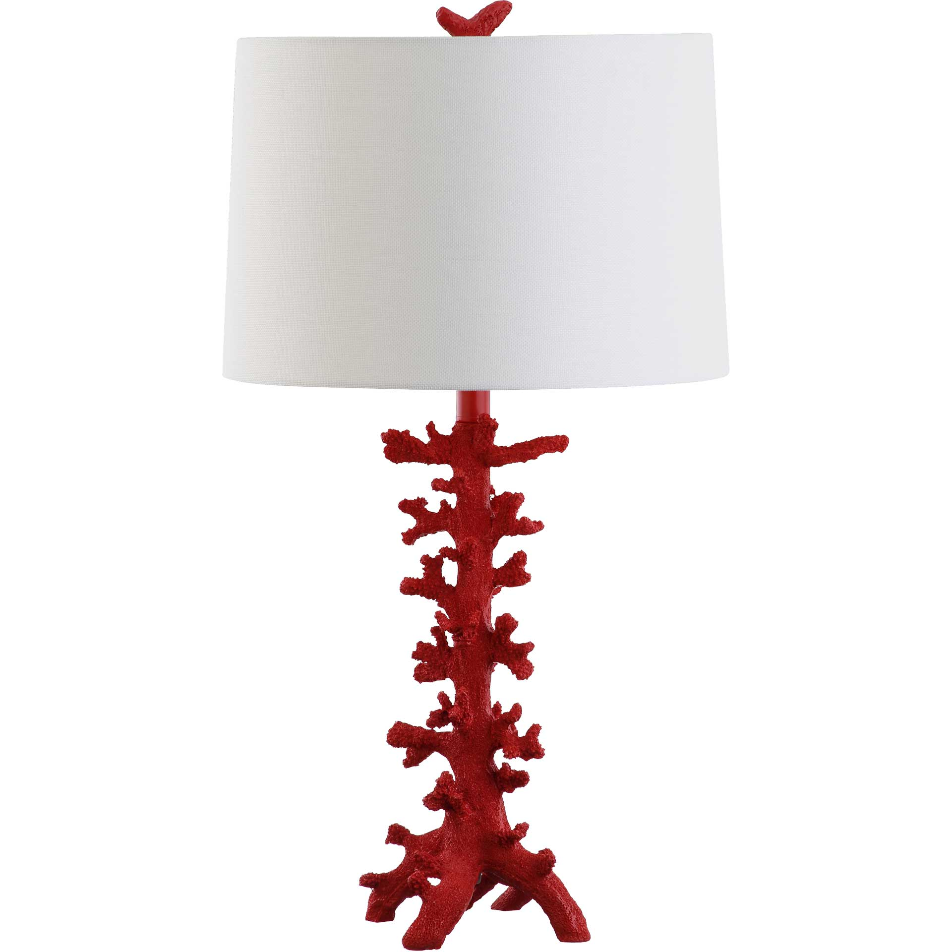 Rosa Coral Table Lamp Red (Set of 2)