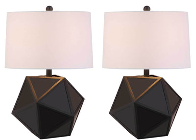 Brentley Table Lamp Black (Set of 2)