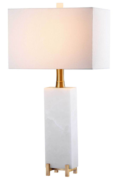 Slade Alabaster Table Lamp White/Brass Gold