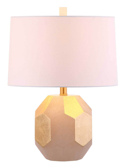 Royal Alabaster Table Lamp White/Gold Leaf