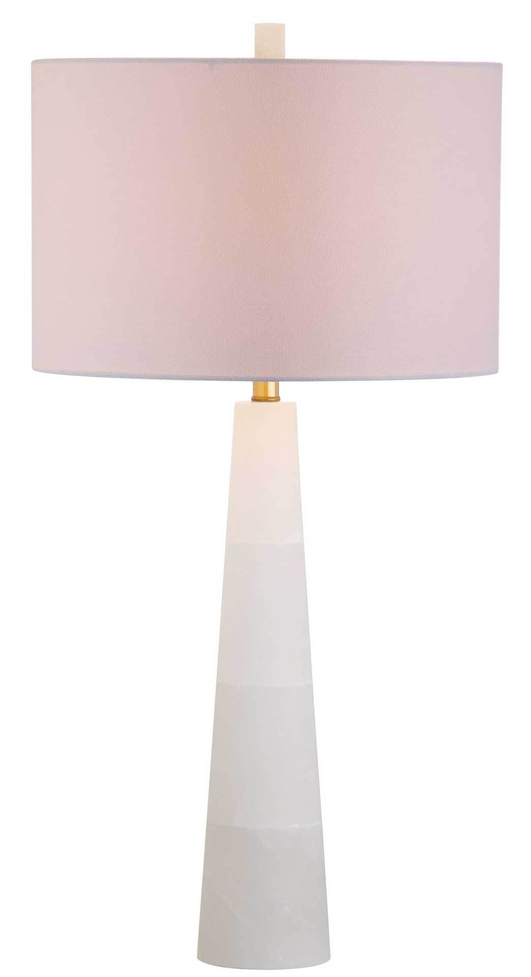 Deegan Alabaster Table Lamp White
