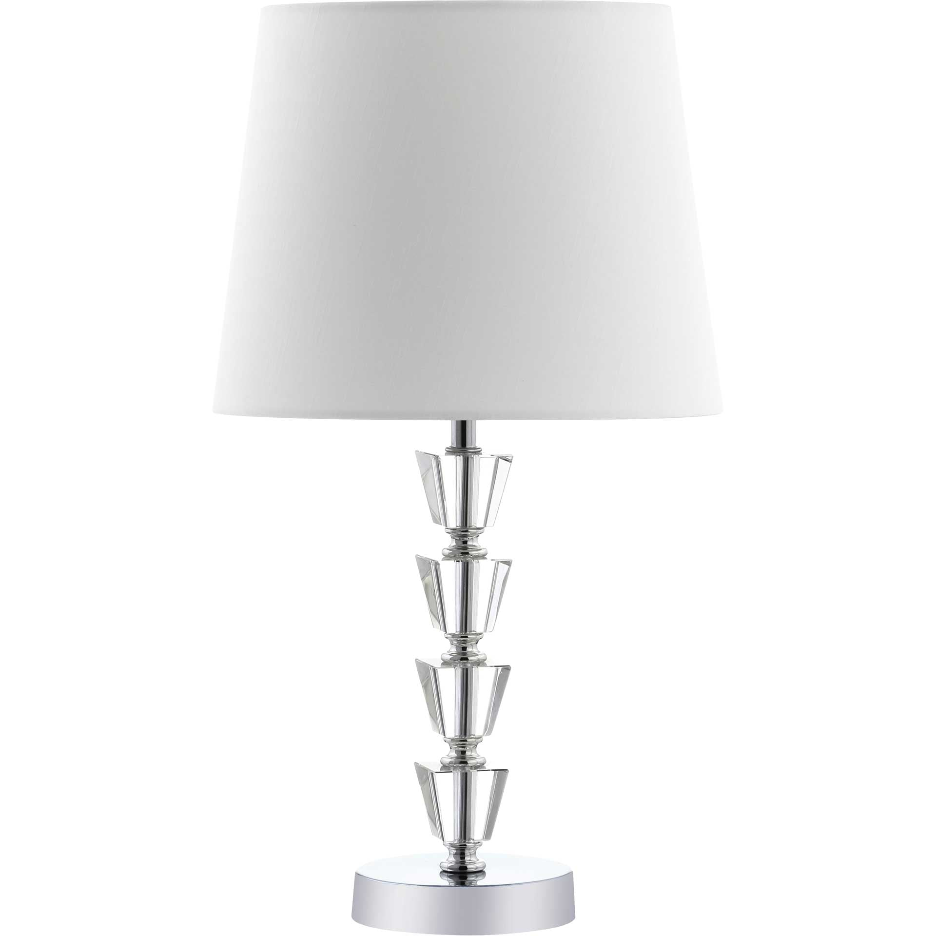 Beaumont Table Lamp Clear/Chrome