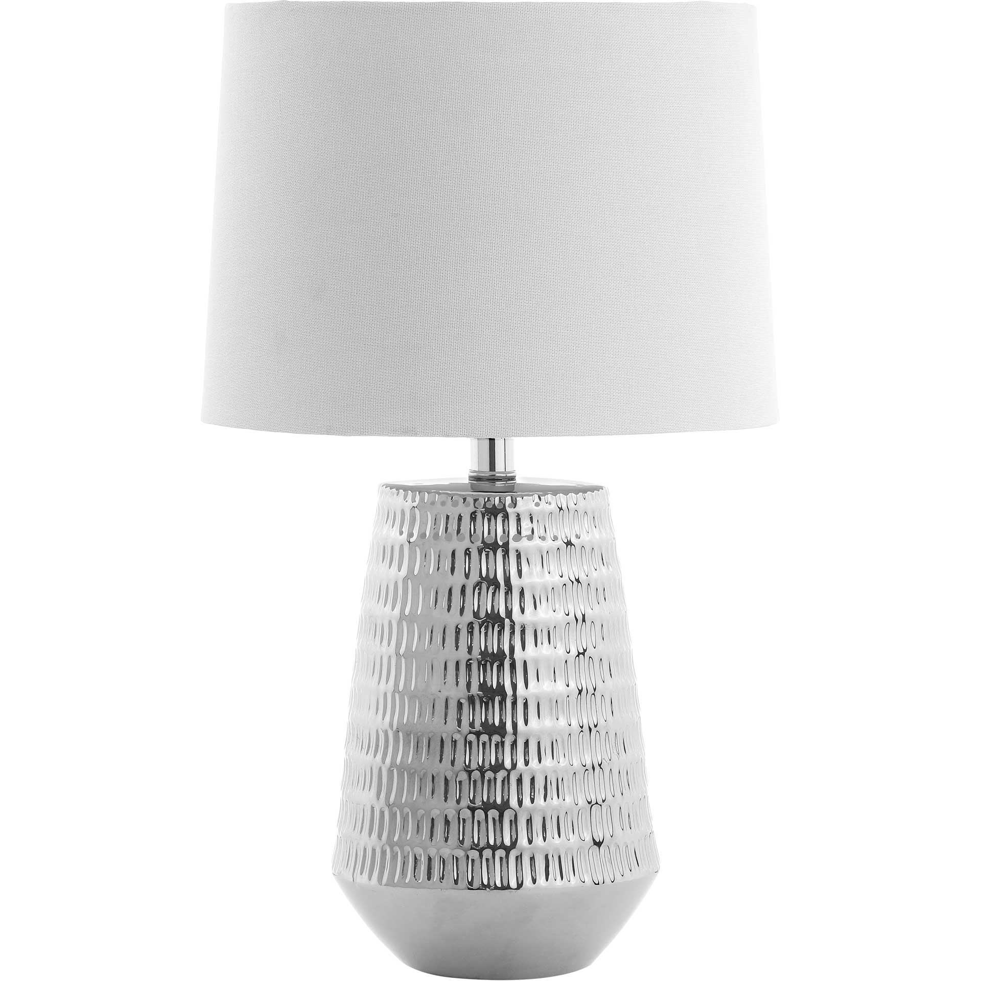 Steer Table Lamp Plated Silver