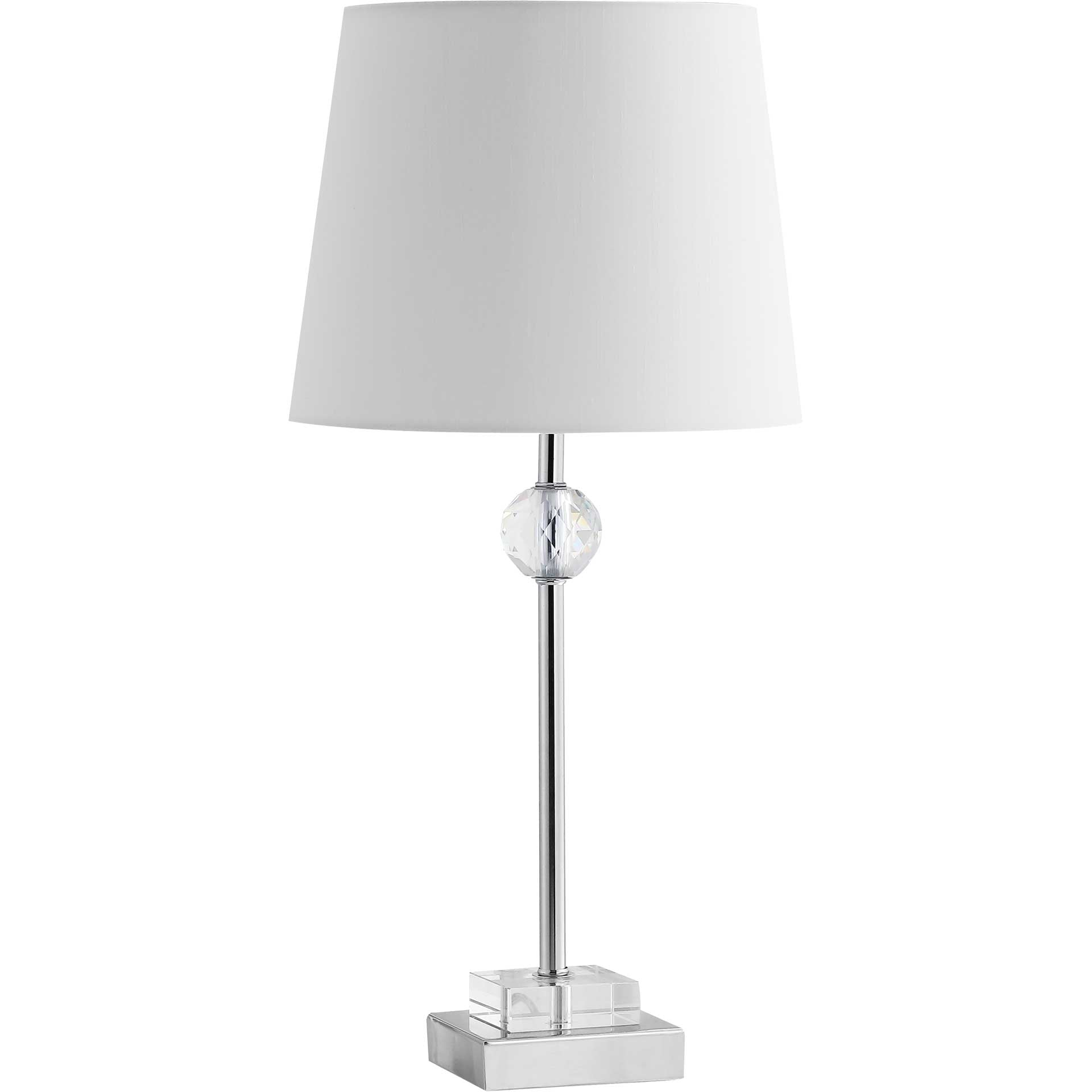 Prompt Table Lamp Clear/Chrome