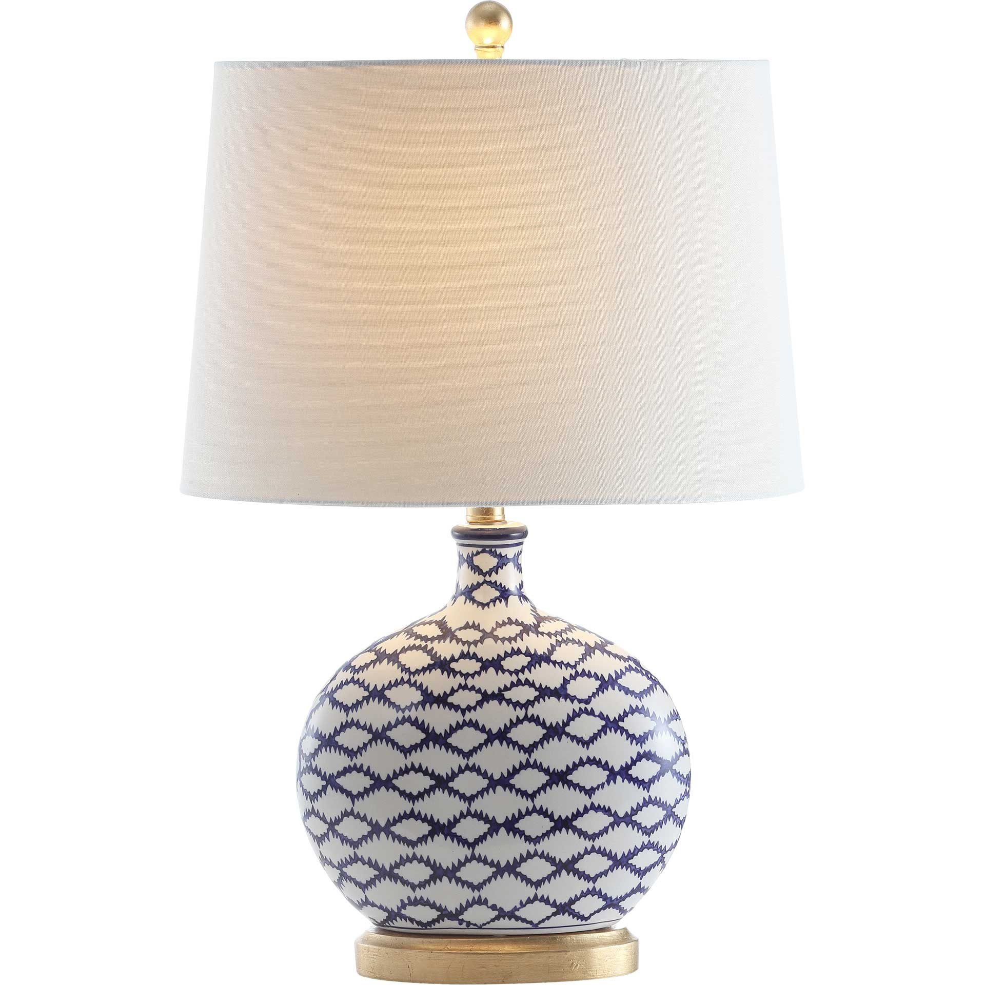 Madurai Table Lamp Blue/White