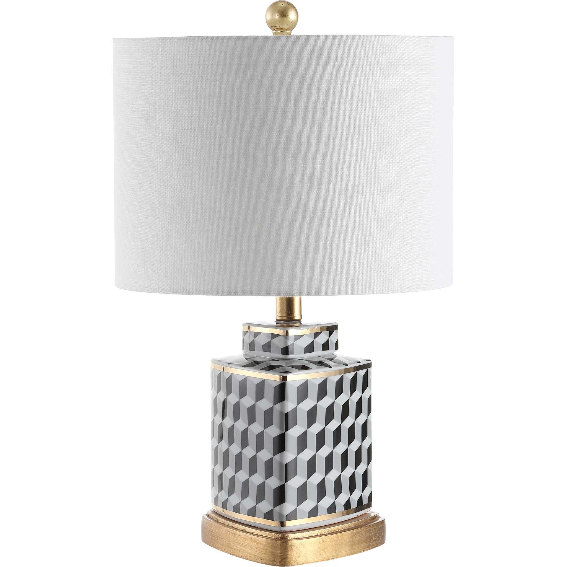 Alexis Table Lamp Black/White