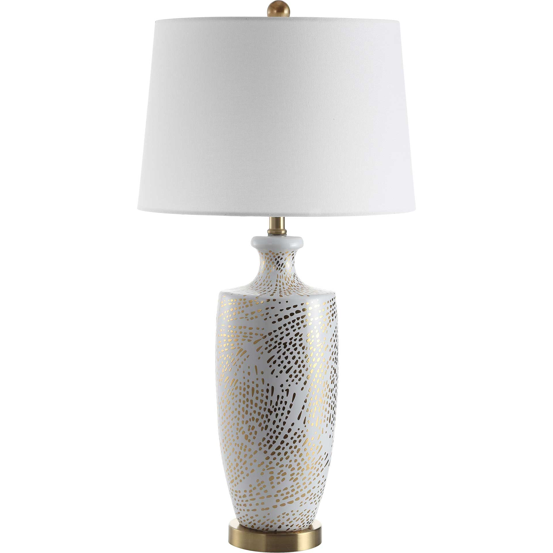 Lisa Table Lamp White/Gold