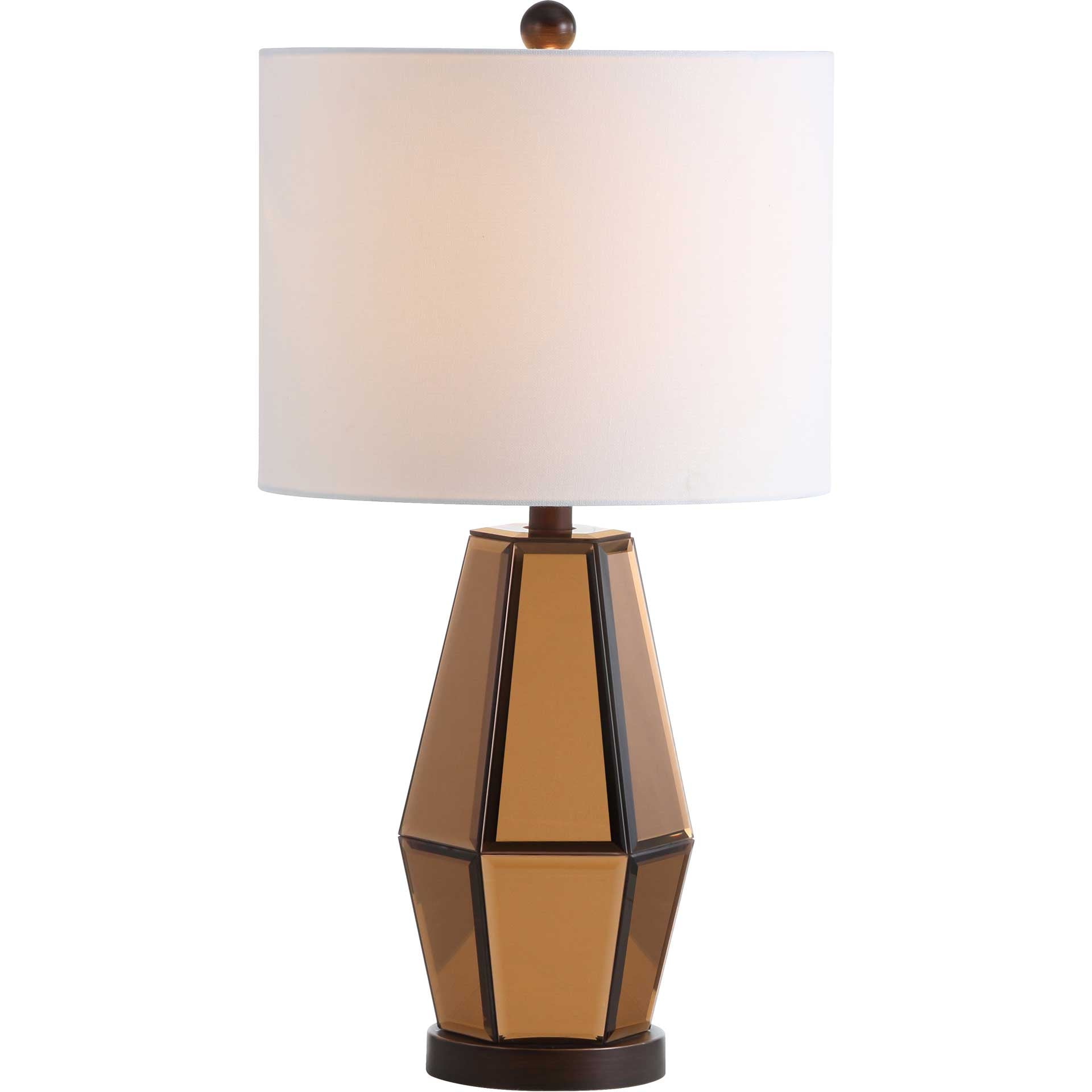 Amish Table Lamp Copper/Dark Brown