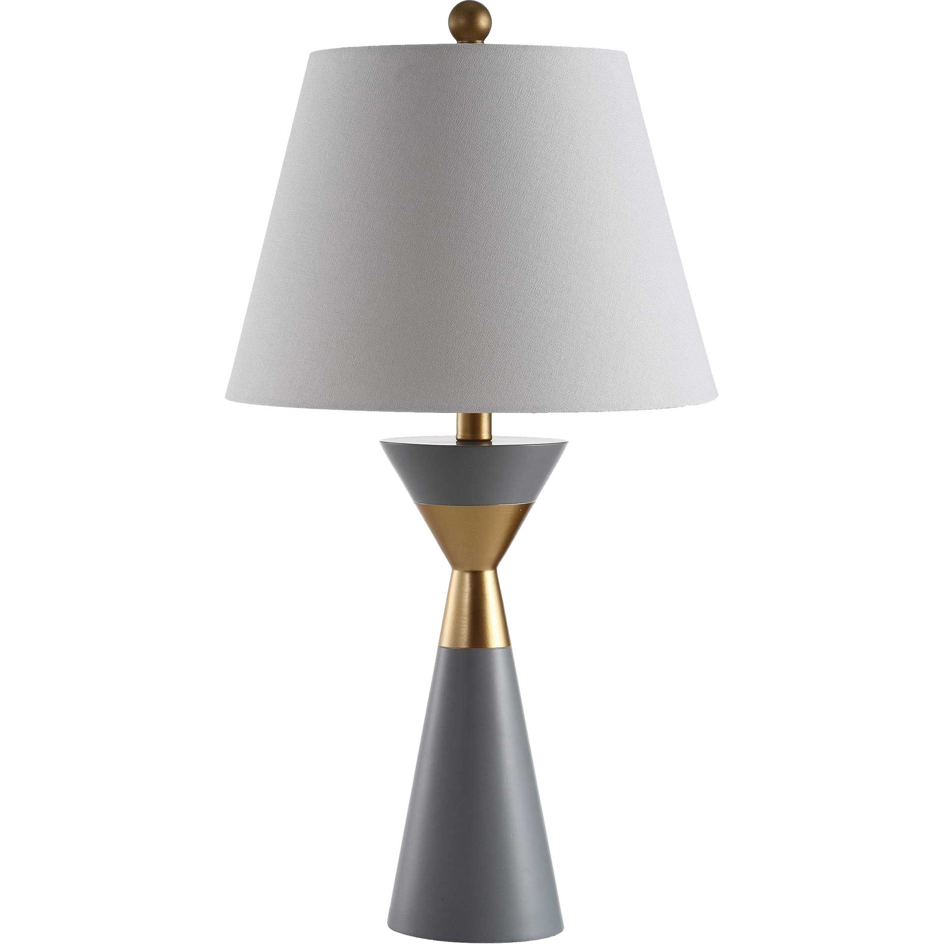 Lippa Table Lamp Gray/Gold (Set of 2)