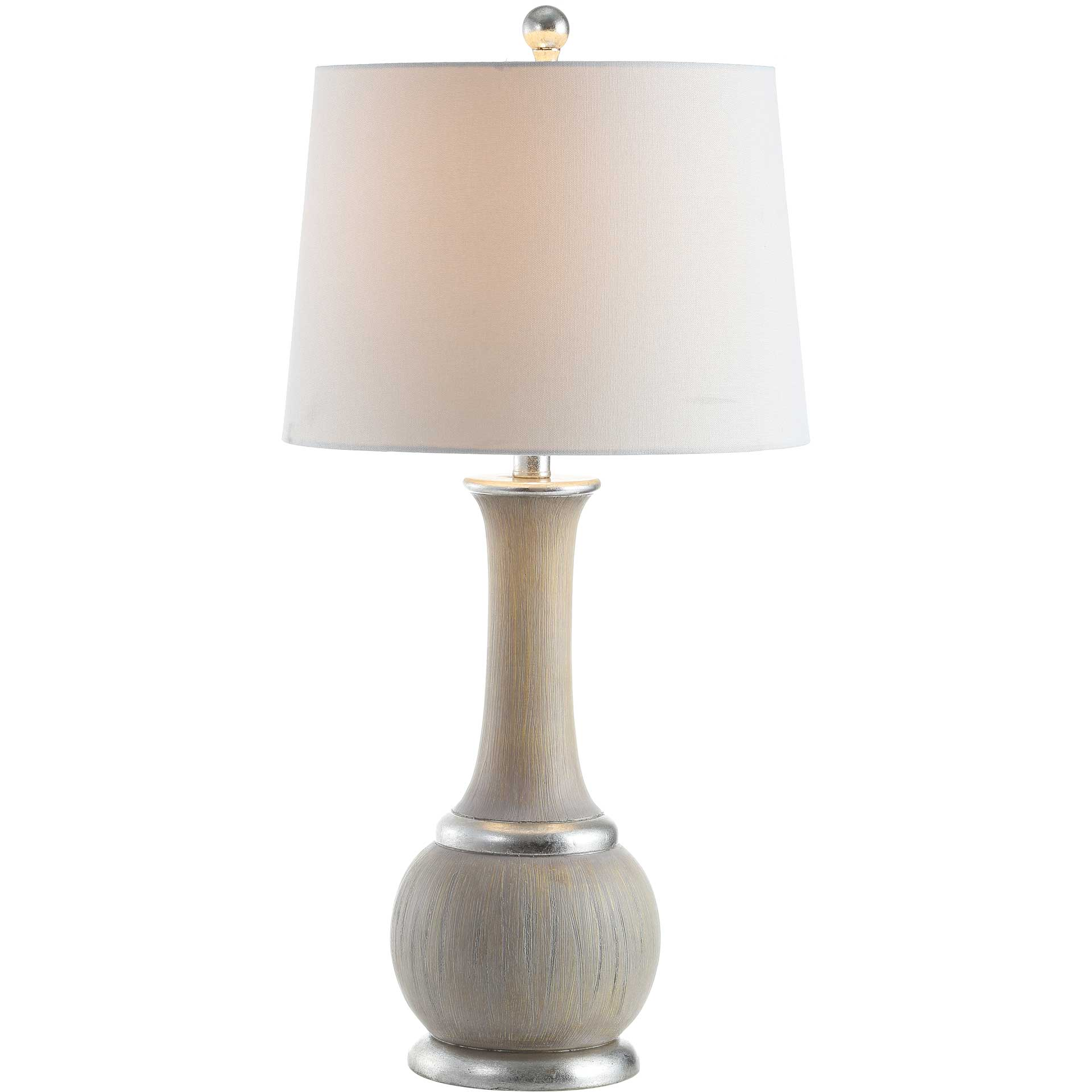 Naomi Table Lamp Gray/Silver Leaf