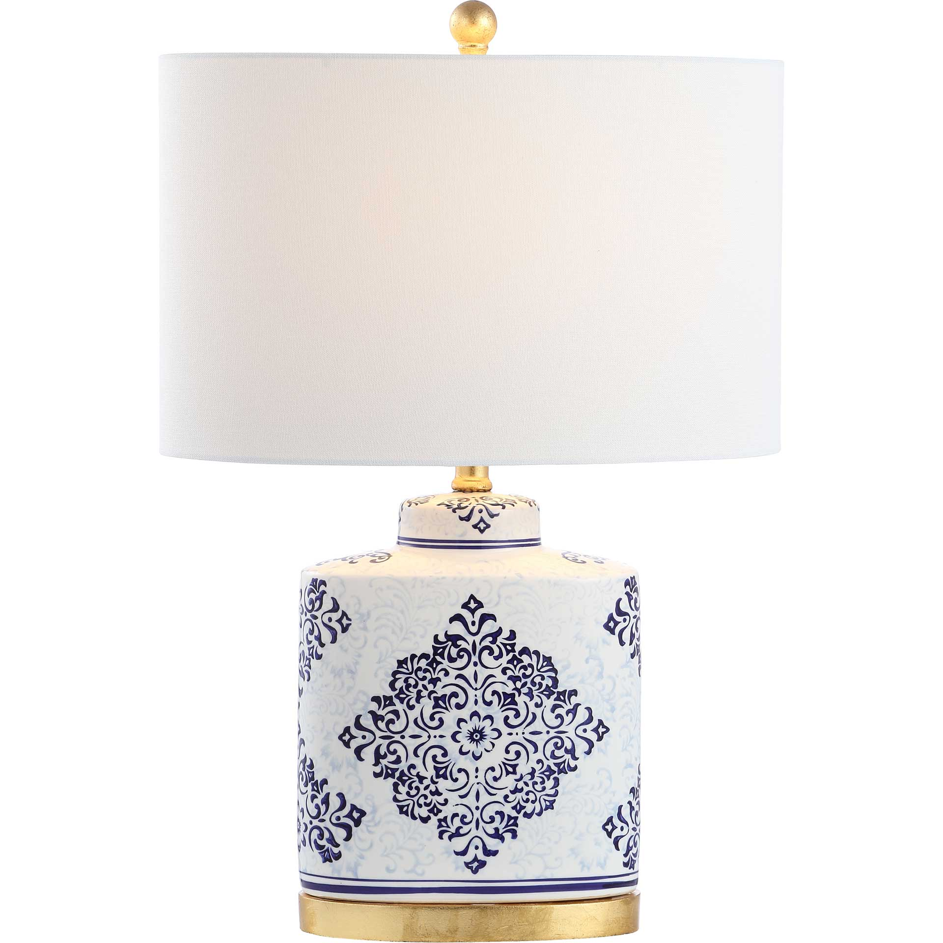 Kailey Table Lamp Blue/White (Set of 2)