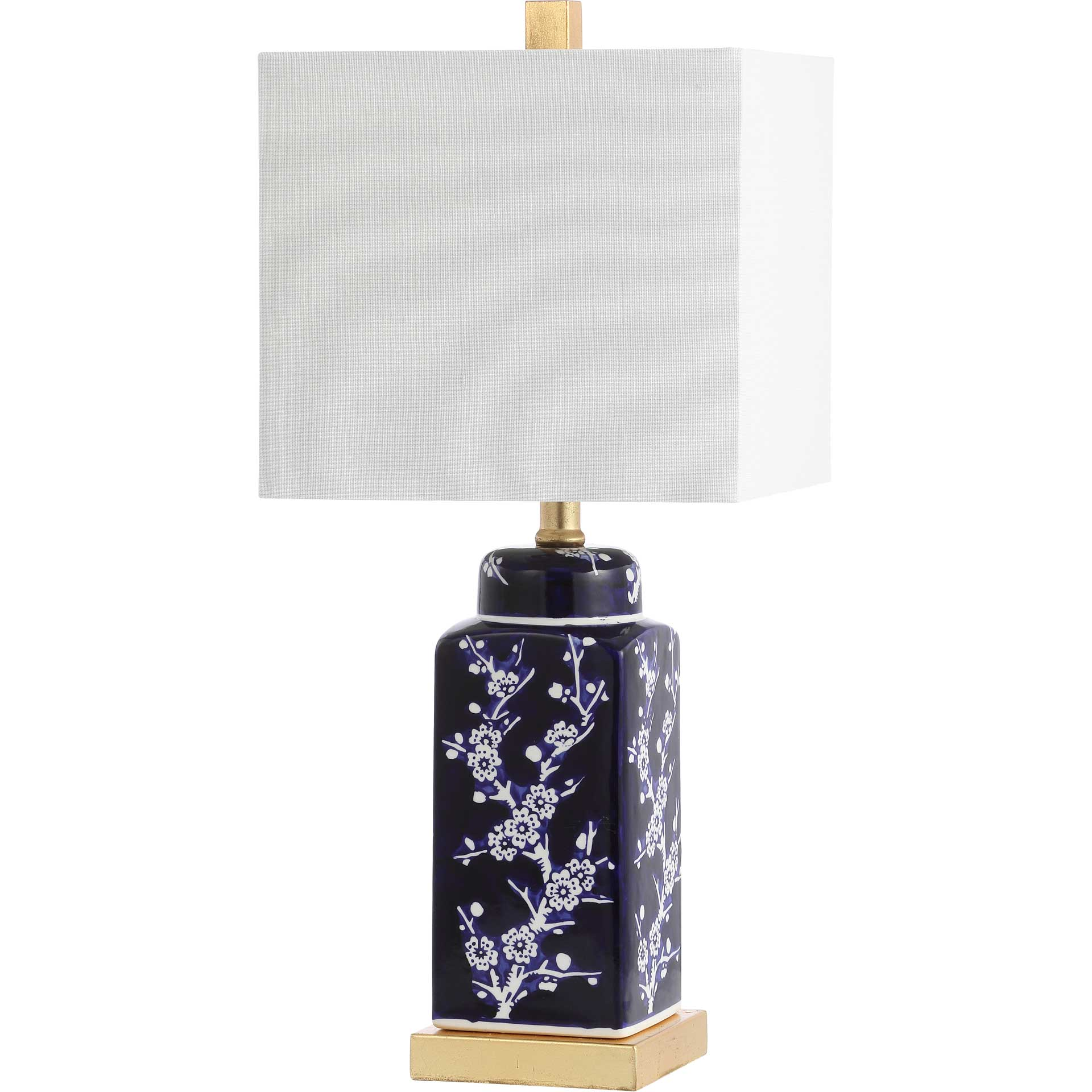 Pique Table Lamp Navy/White (Set of 2)