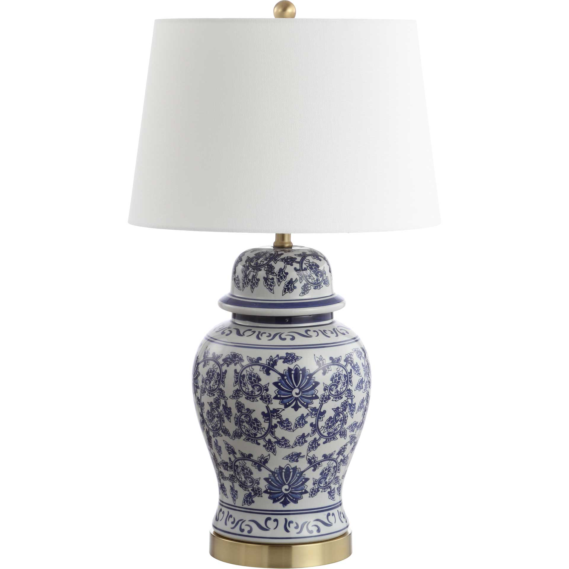 Archer Table Lamp Blue/White (Set of 2)