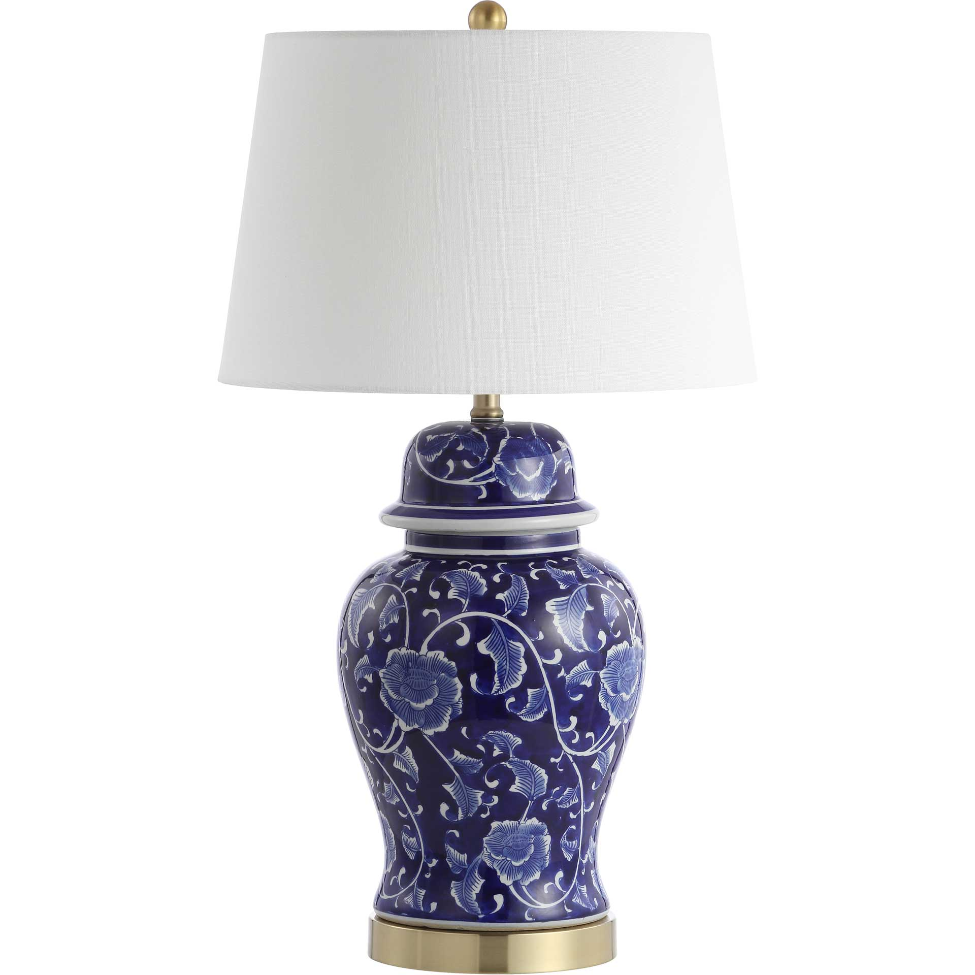 Ahmed Table Lamp Navy/White (Set of 2)