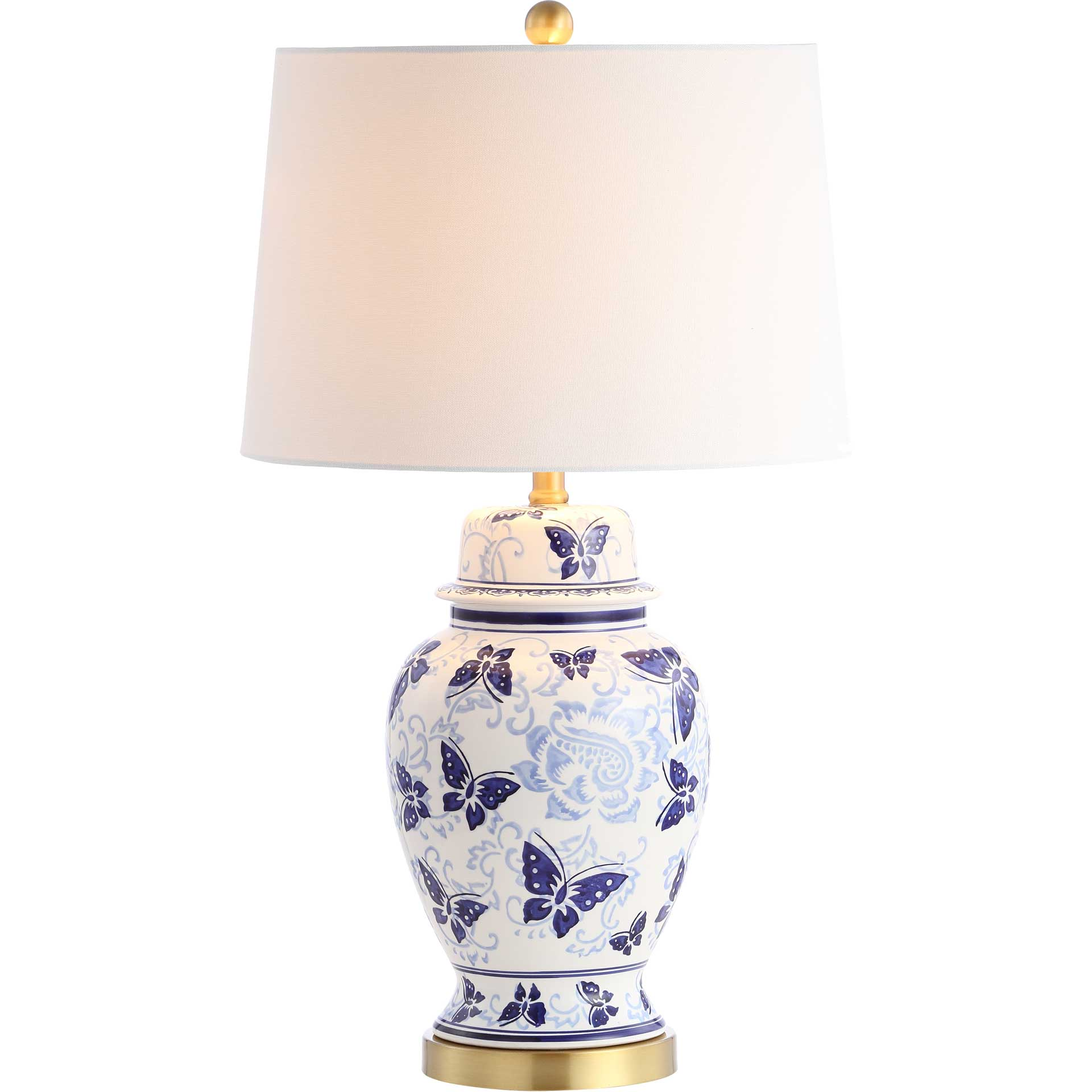 Hamdan Table Lamp Blue/White (Set of 2)