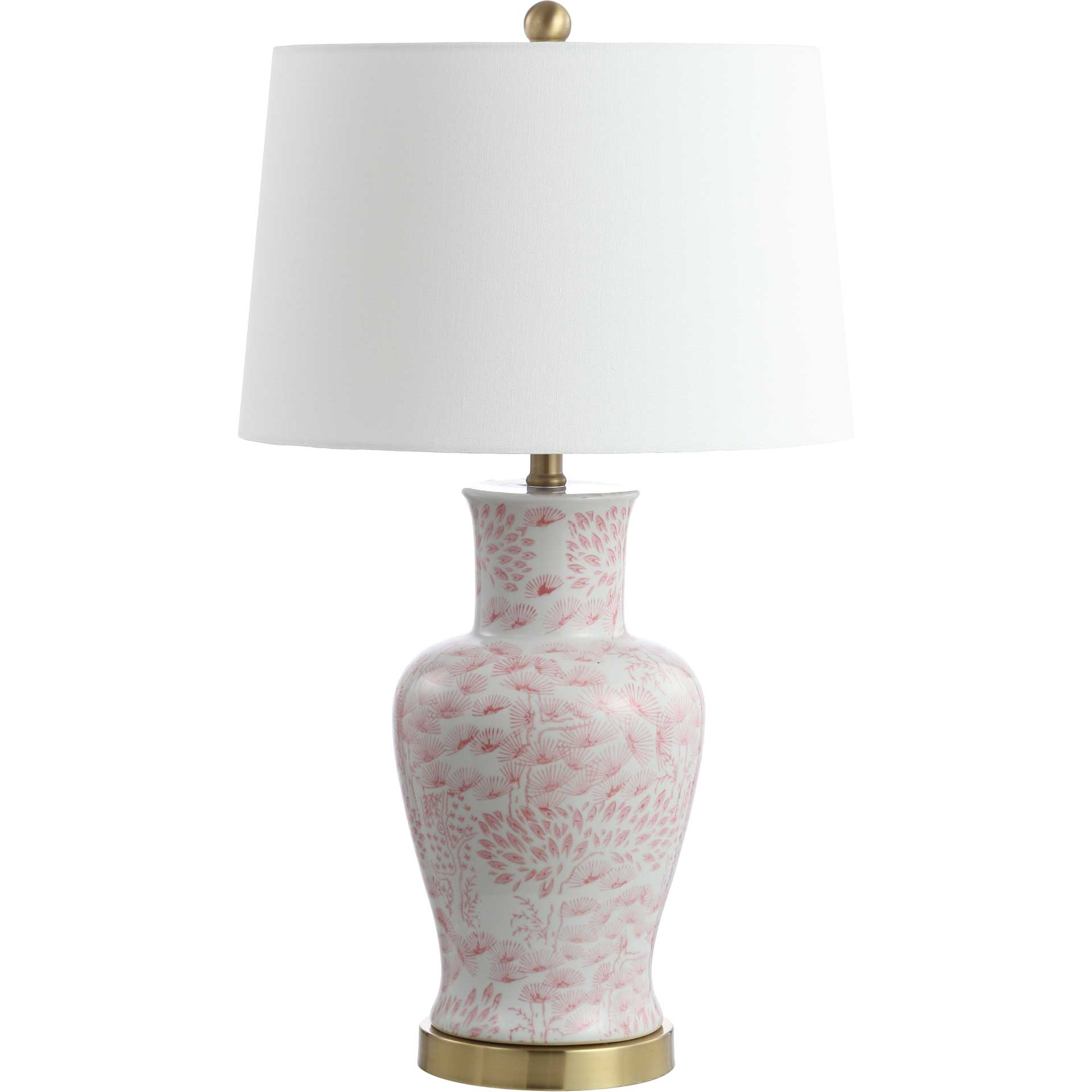 Caleb Table Lamp Pink/White (Set of 2)