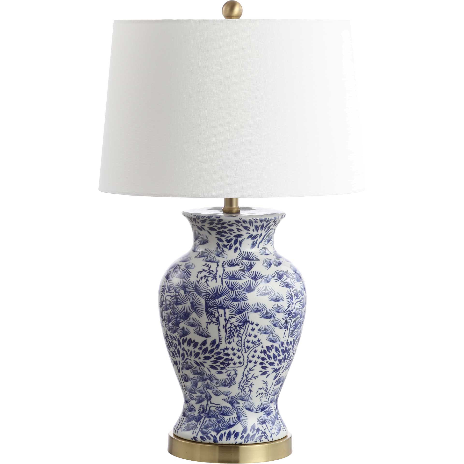 Alma Table Lamp Blue/White (Set of 2)