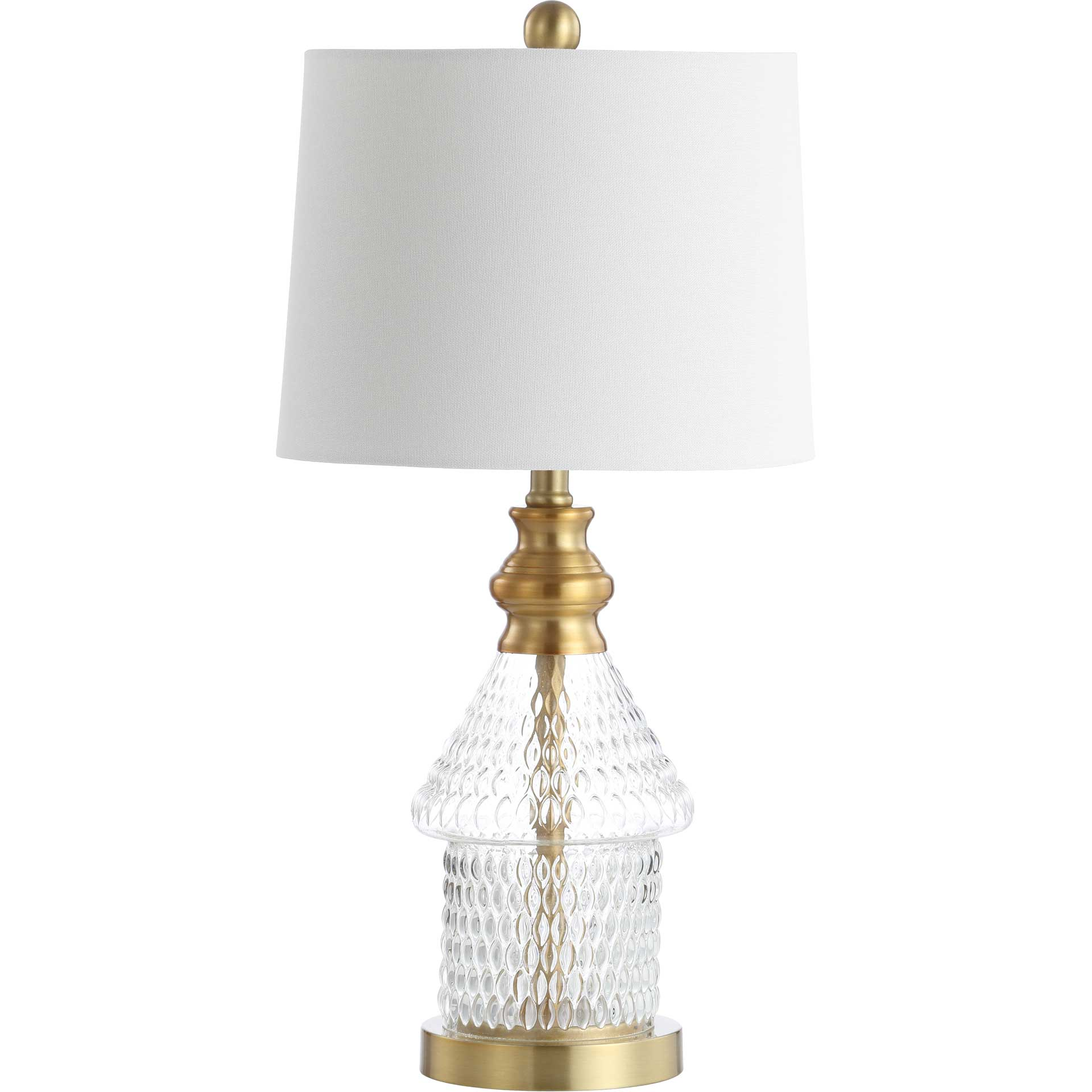 Calista Table Lamp Clear/Brass Gold