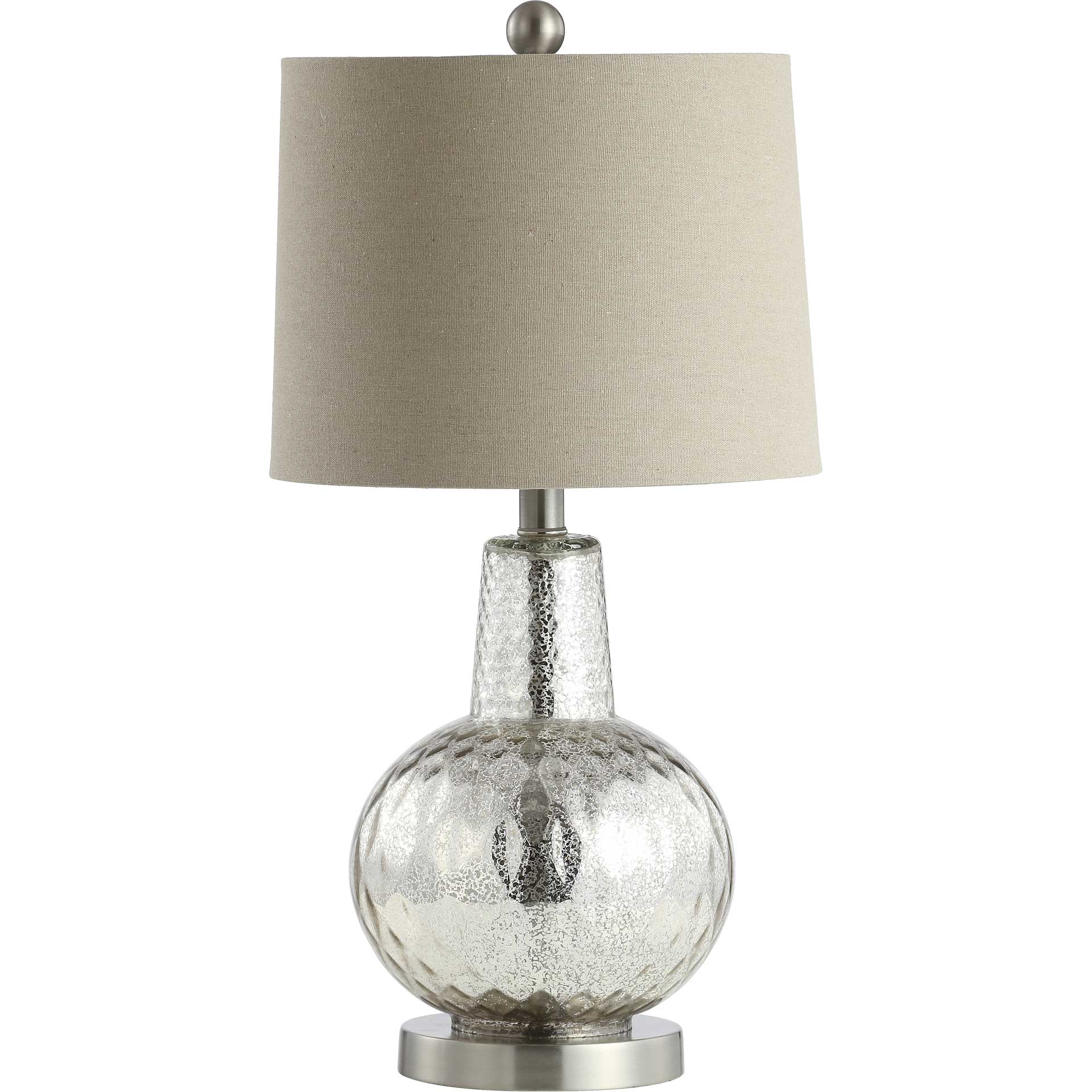 Attune Table Lamp Silver/Ivory