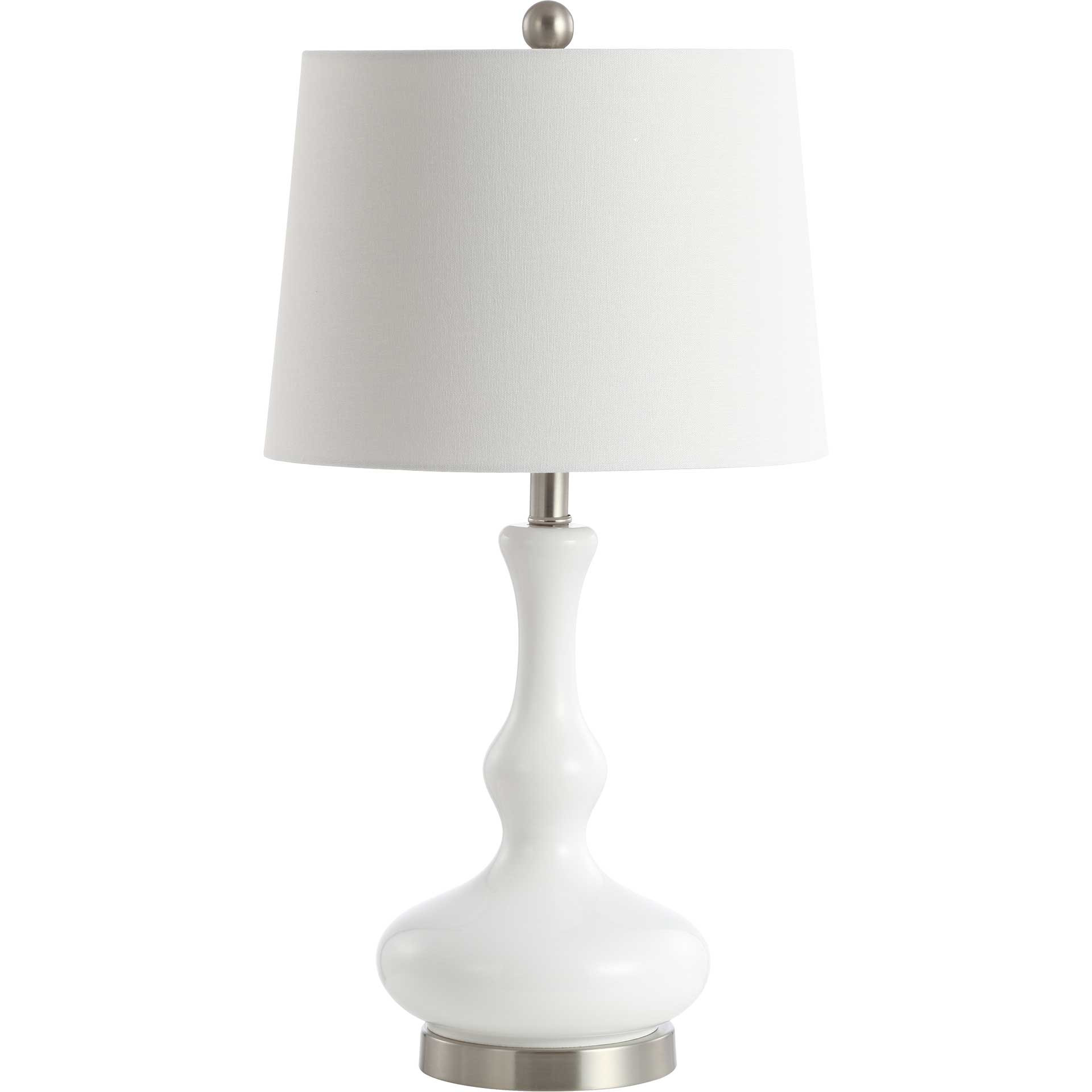 Kellys Table Lamp White/Nickel
