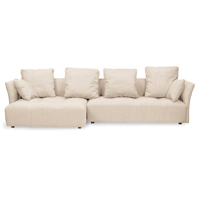 Abbison Fabric Sectional Sofa Beige
