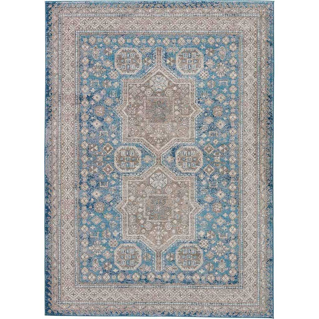 Terracotta Yucatan Gray/Blue Area Rug