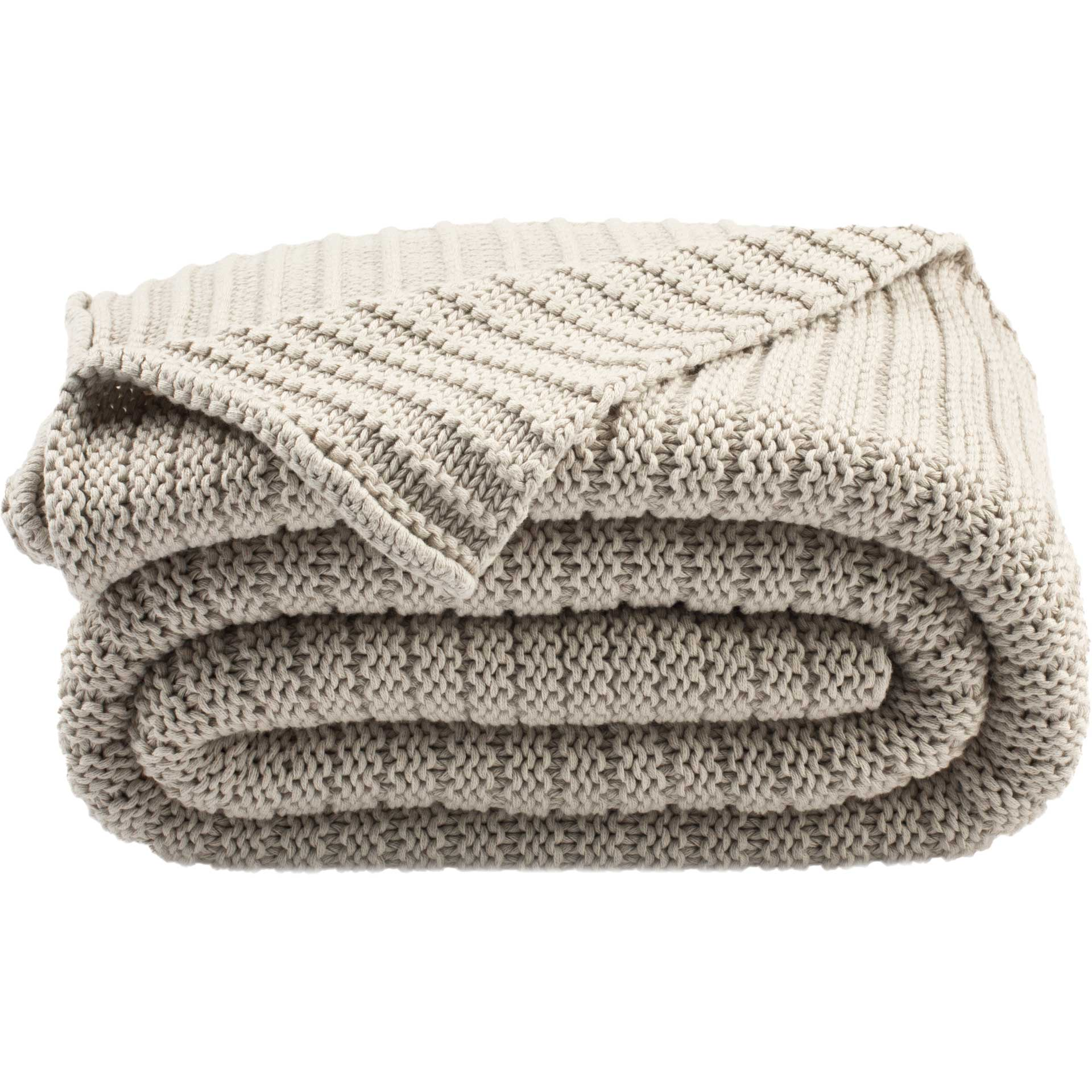 Bean Gigi Knit Throw Palewisper