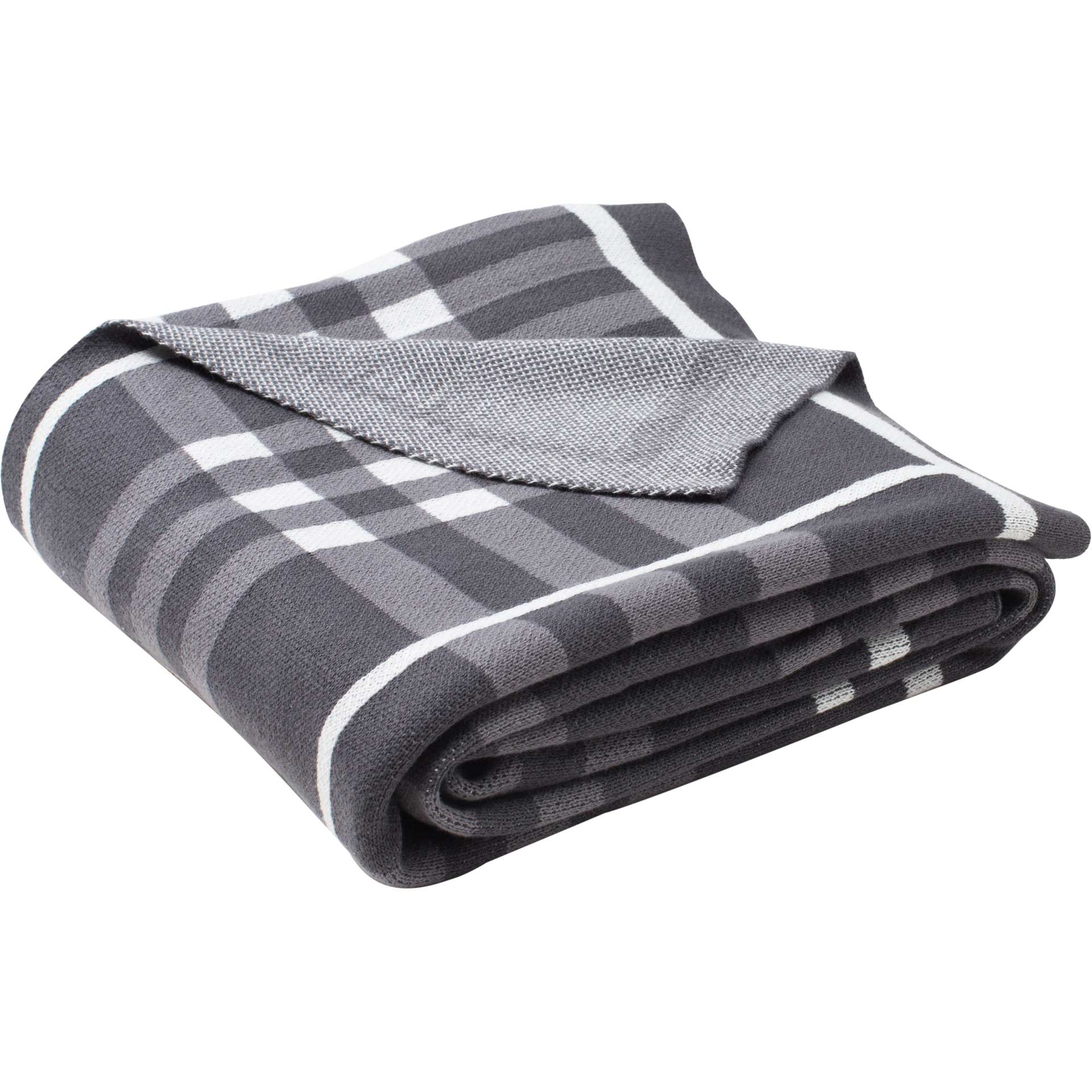 Una Throw Dark Gray/Medium Gray/Ivory
