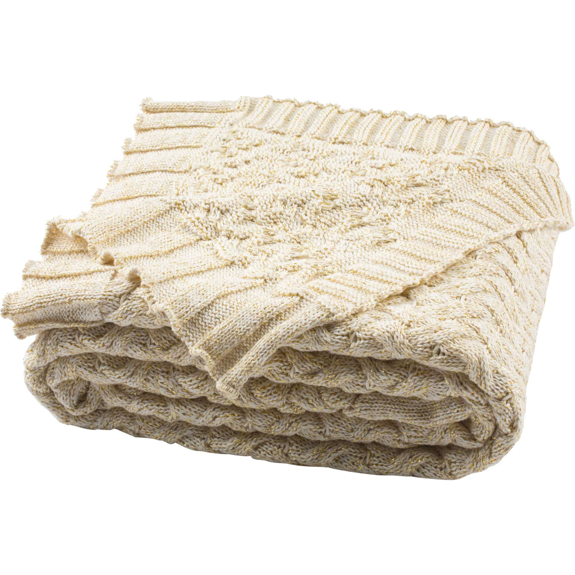 Admiration Knit Throw Natural/Gold