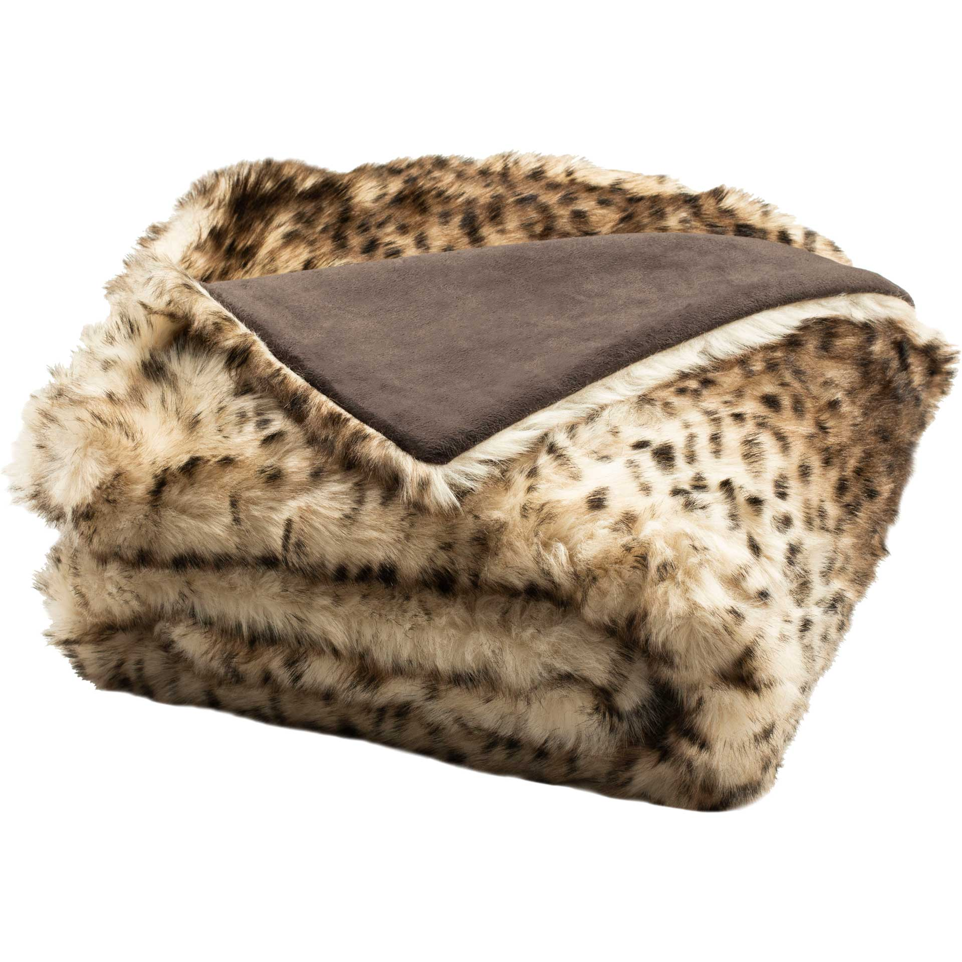 Faux Leopardis Throw Brown/Black