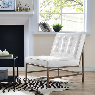 Jems White Patent Leather Chair