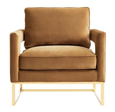 Alex Cognac Velvet Chair