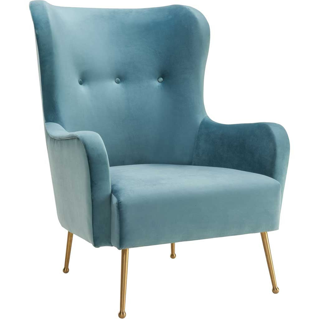 Esther Sea Blue Velvet Chair