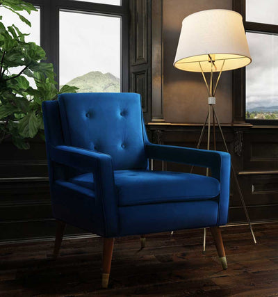 Draveil Navy Velvet Chair
