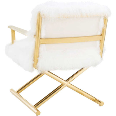 Jackie White Sheepskin Chair