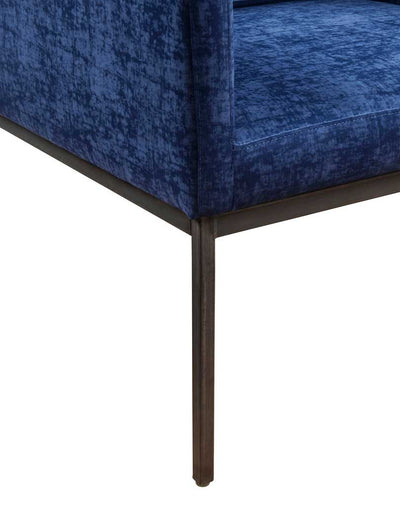 Carlson Navy Velvet Chair