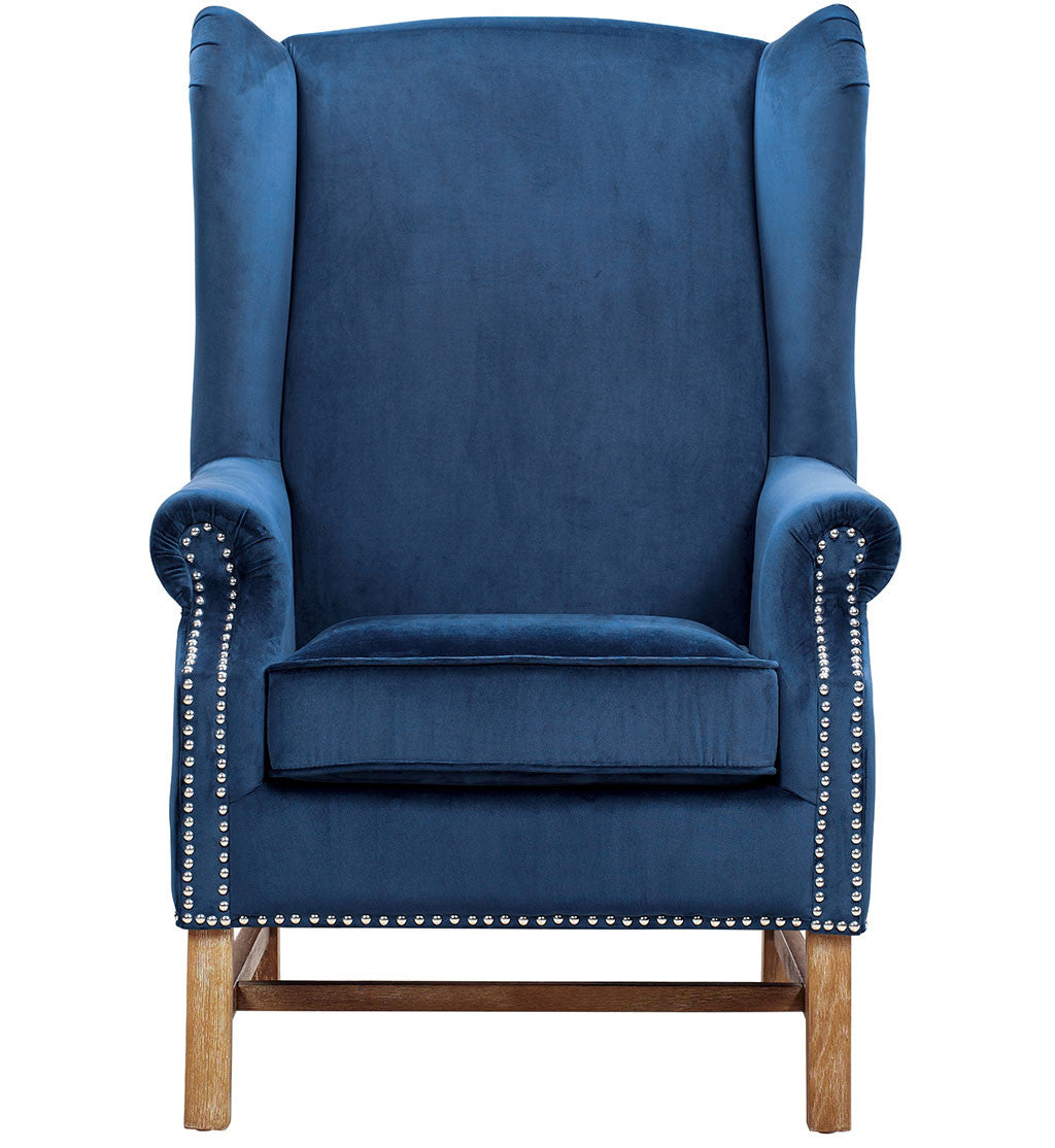Norcross Navy Velvet Chair