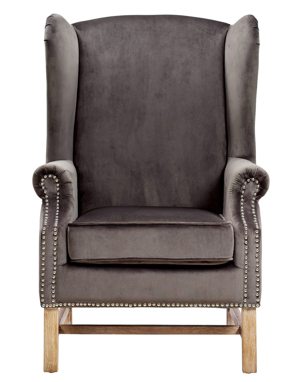 Norcross Gray Velvet Chair