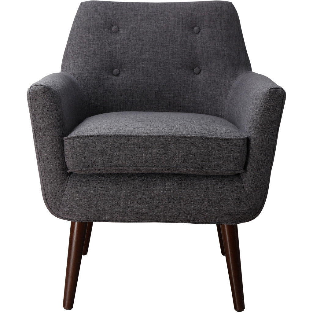 Clark Gray Linen Chair